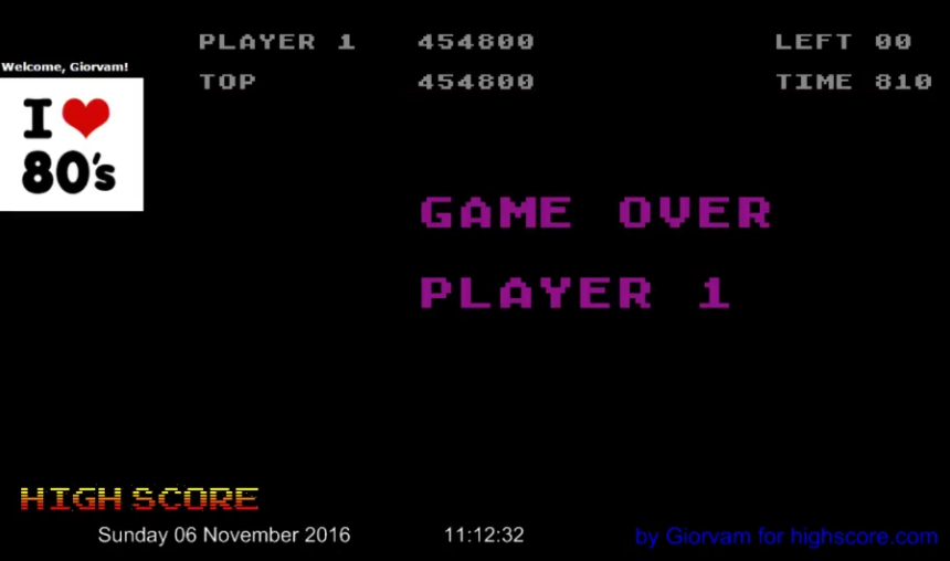 Giorvam: Nibbler (Atari 400/800/XL/XE Emulated) 454,800 points on 2016-11-06 03:44:15