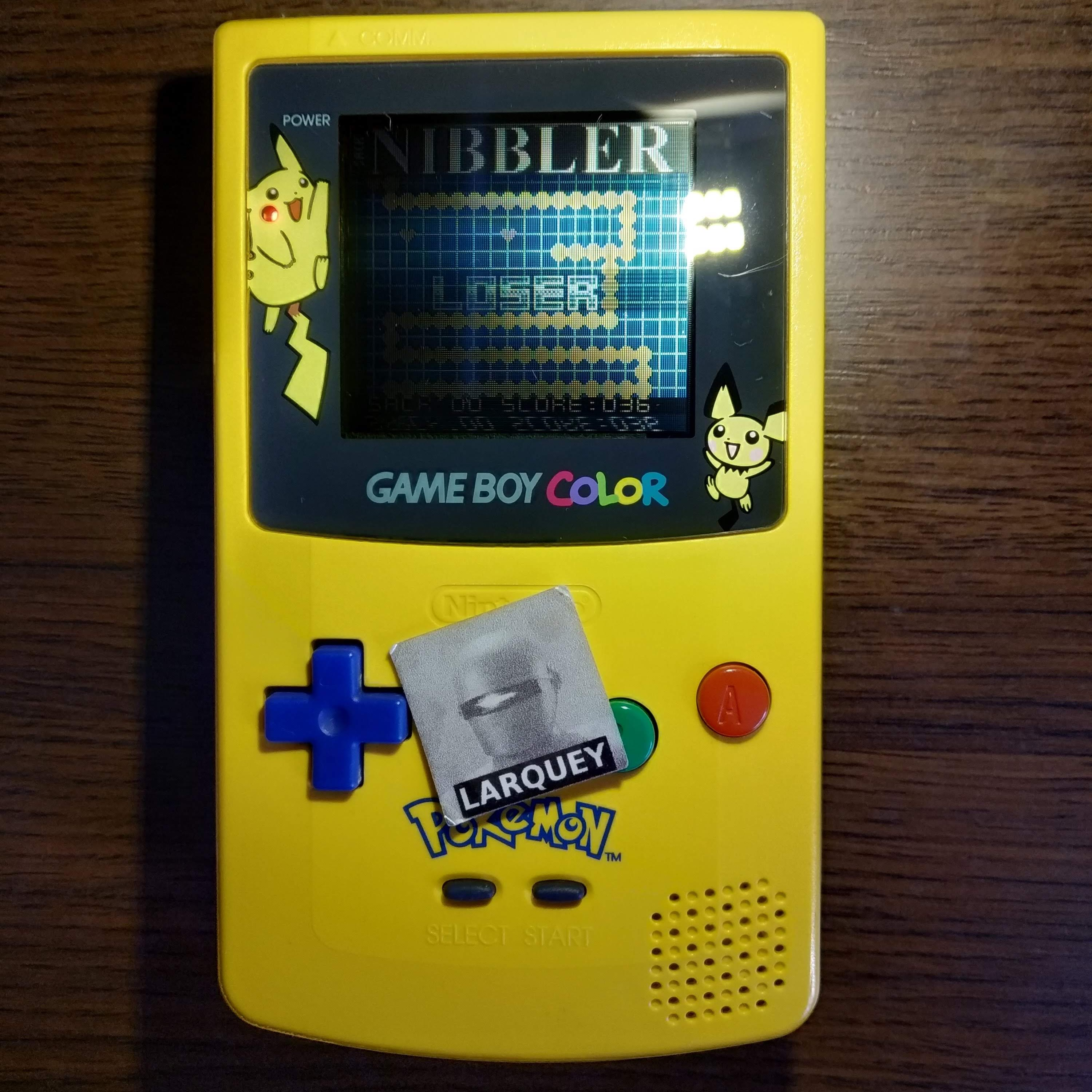 Larquey: Nibbler (Game Boy Color) 36 points on 2020-07-14 11:39:35