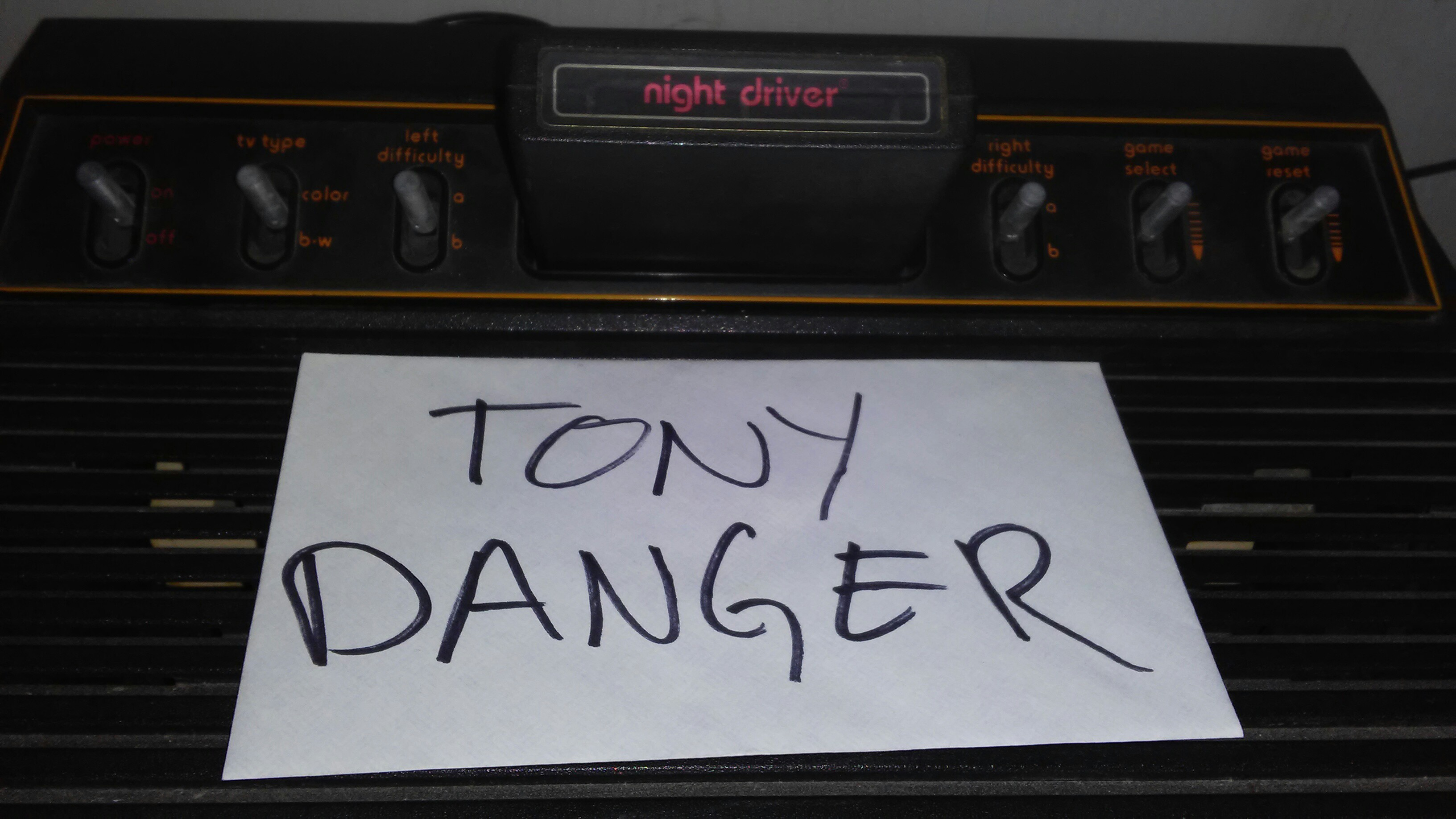 TonyDanger: Night Driver (Atari 2600 Expert/A) 71 points on 2017-01-04 18:34:17