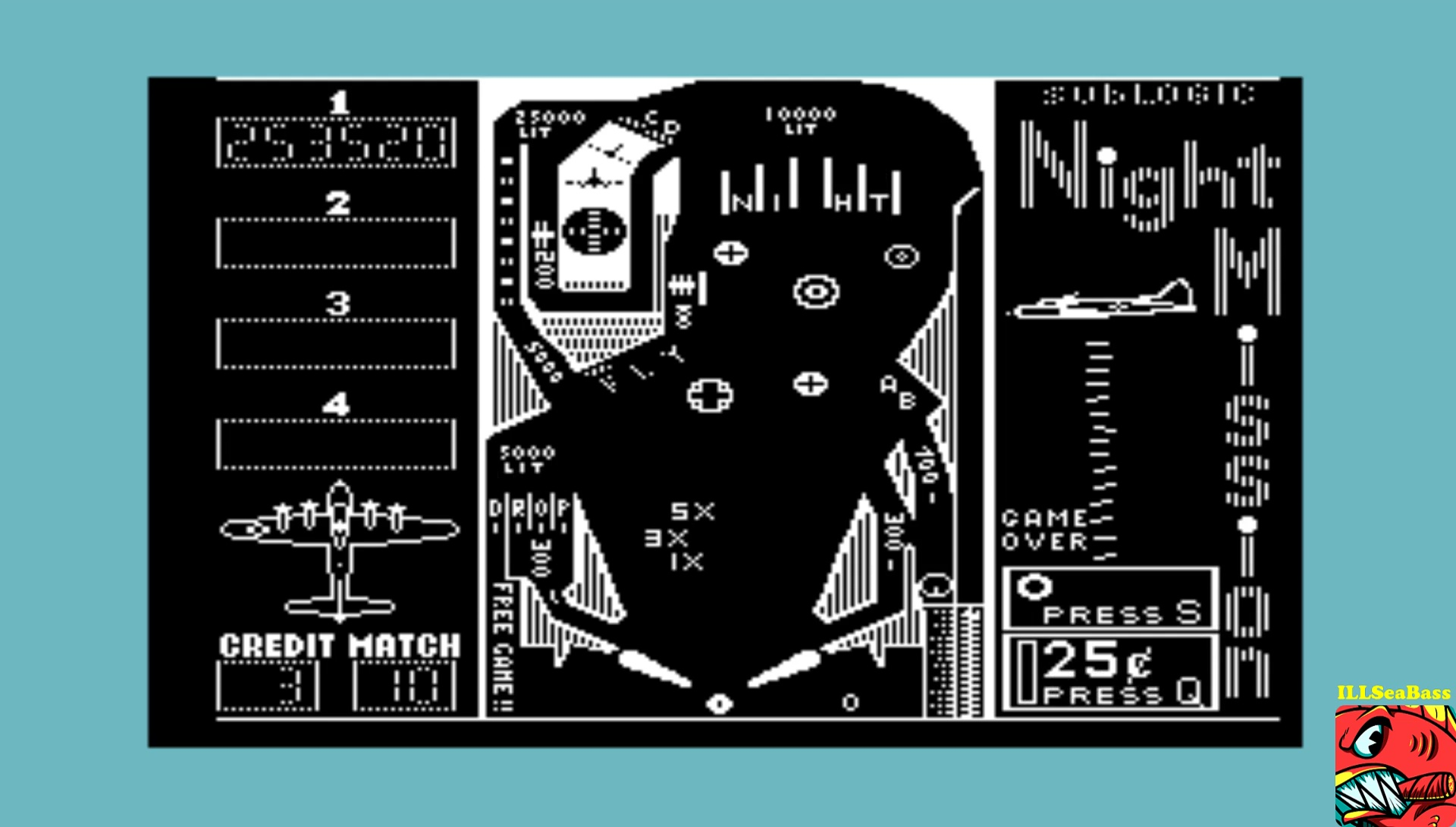 ILLSeaBass: Night Mission Pinball (Commodore 64 Emulated) 253,520 points on 2017-02-21 20:51:28
