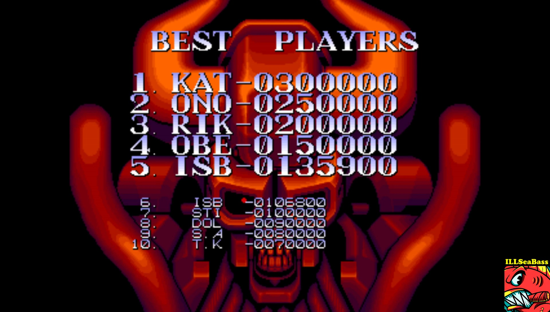 ILLSeaBass: Night Slashers [nslasher] (Arcade Emulated / M.A.M.E.) 135,900 points on 2017-07-18 23:37:28