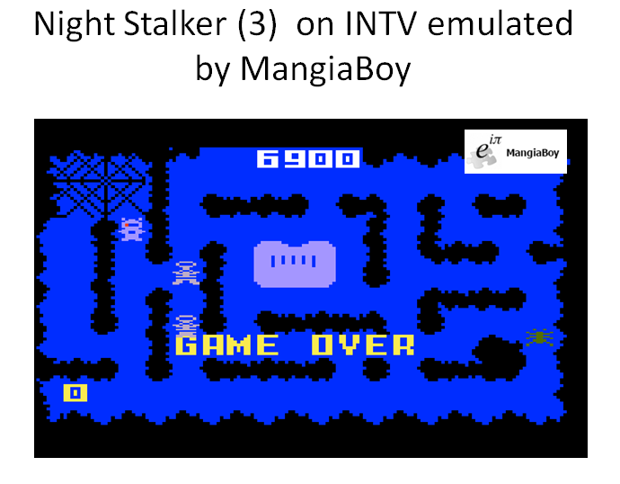 MangiaBoy: Night Stalker: Game 3 [Slowest] (Intellivision Emulated) 6,900 points on 2016-03-17 17:26:24