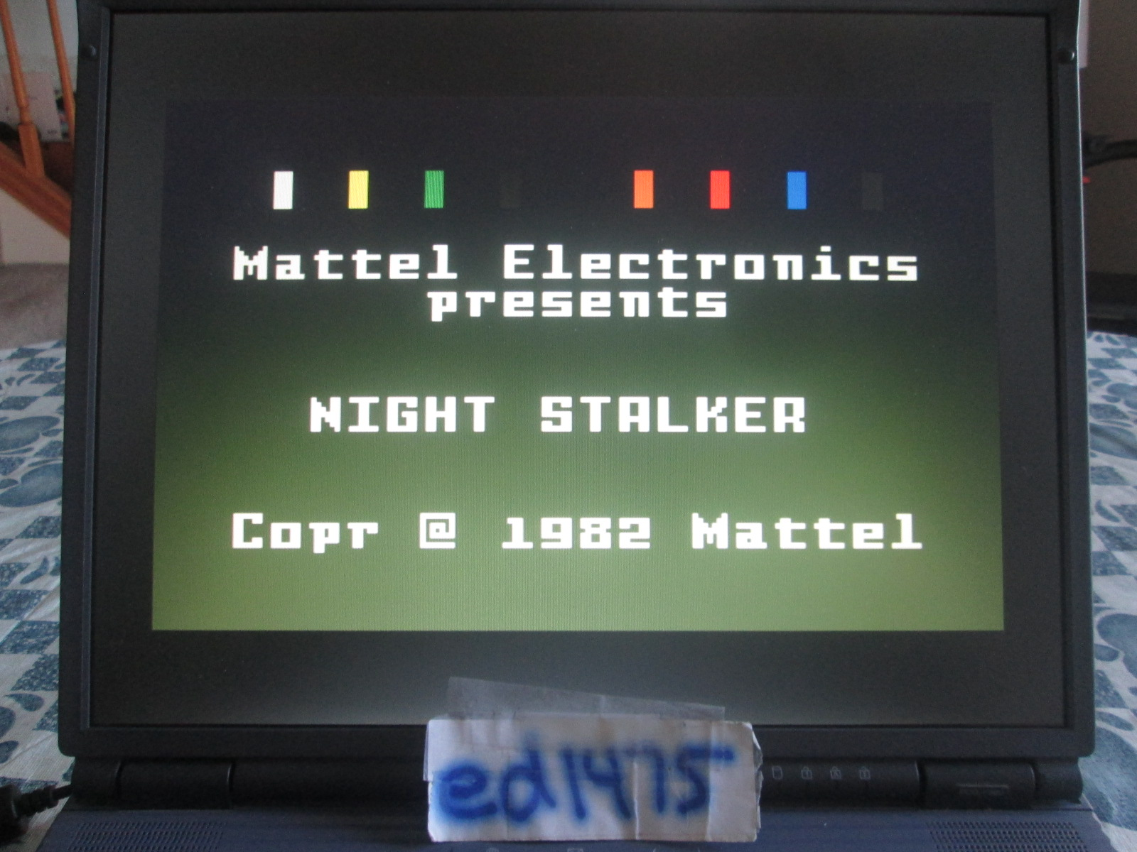 ed1475: Night Stalker: Game 3 [Slowest] (Intellivision Emulated) 8,700 points on 2018-10-15 19:16:25