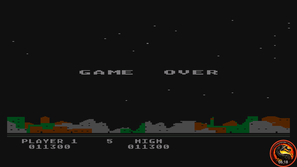 omargeddon: Night Strike [Level 1] (Atari 400/800/XL/XE Emulated) 11,300 points on 2020-10-09 01:12:58