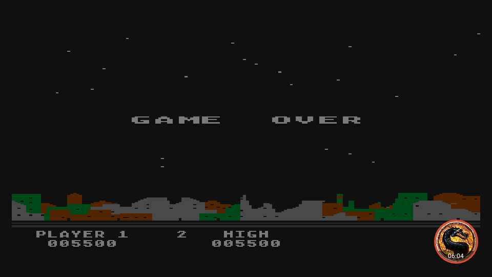 omargeddon: Night Strike [Level 1] (Atari 400/800/XL/XE Emulated) 5,500 points on 2019-04-15 07:17:48