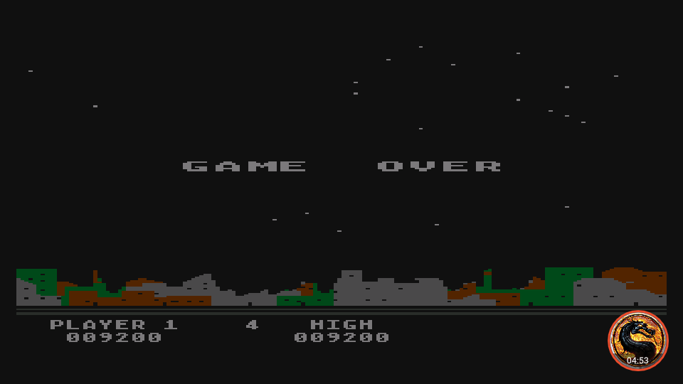 omargeddon: Night Strike [Level 1] (Atari 400/800/XL/XE Emulated) 9,200 points on 2019-11-18 18:25:19