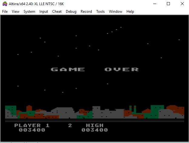 MangiaBoy: Night Strike [Level 2] (Atari 400/800/XL/XE Emulated) 3,400 points on 2018-12-30 07:11:02