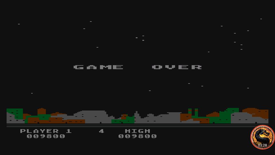 omargeddon: Night Strike [Level 2] (Atari 400/800/XL/XE Emulated) 9,800 points on 2019-04-15 07:18:35