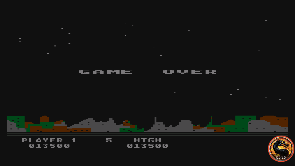 omargeddon: Night Strike [Level 2] (Atari 400/800/XL/XE Emulated) 13,500 points on 2019-11-18 18:26:11