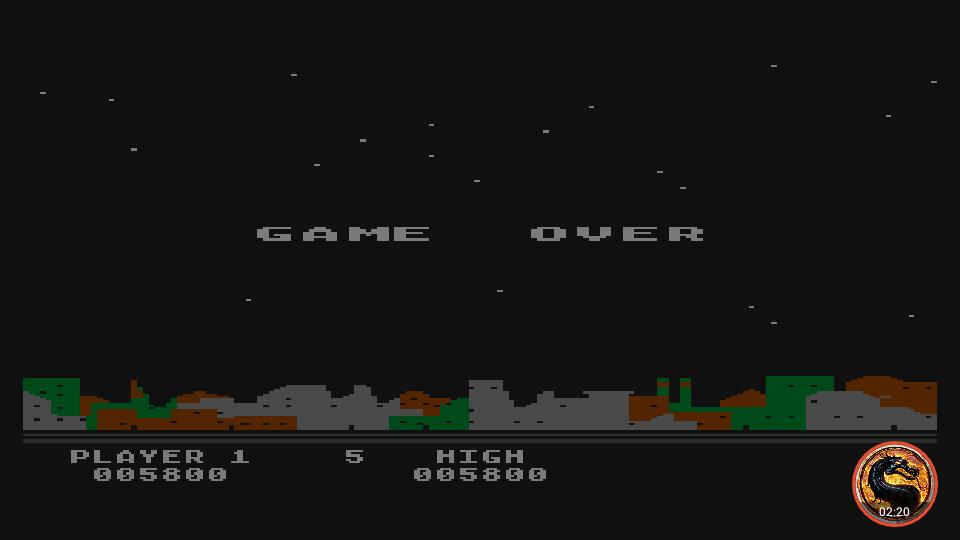 omargeddon: Night Strike [Level 3] (Atari 400/800/XL/XE Emulated) 5,800 points on 2019-04-15 07:19:11