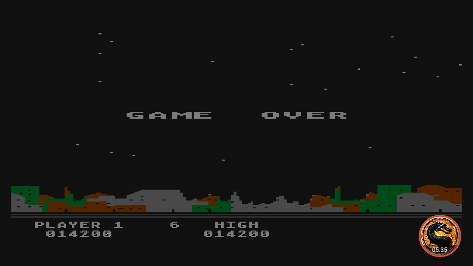 omargeddon: Night Strike [Level 3] (Atari 400/800/XL/XE Emulated) 14,200 points on 2019-11-18 18:27:06