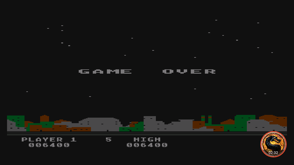 omargeddon: Night Strike [Level 4] (Atari 400/800/XL/XE Emulated) 6,400 points on 2019-11-18 18:27:49