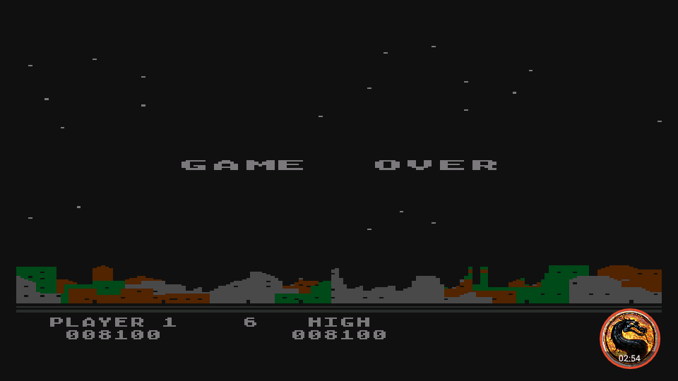 omargeddon: Night Strike [Level 5] (Atari 400/800/XL/XE Emulated) 8,100 points on 2019-11-18 18:28:38