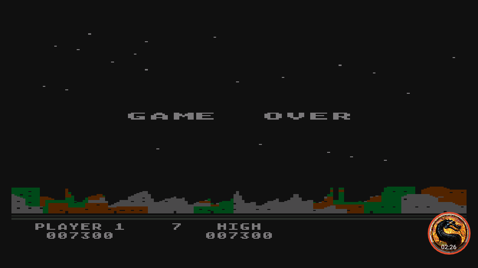 omargeddon: Night Strike [Level 7] (Atari 400/800/XL/XE Emulated) 7,300 points on 2019-11-18 18:30:01
