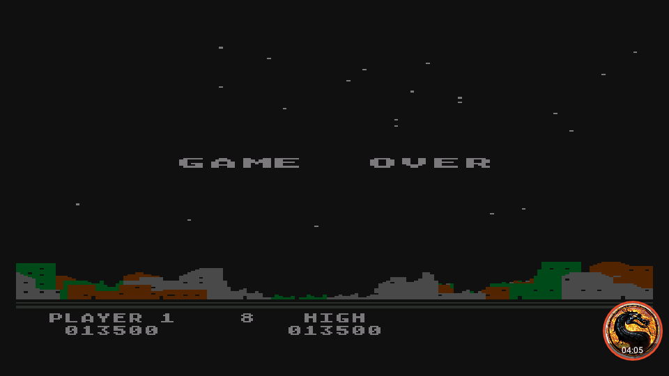 omargeddon: Night Strike [Level 8] (Atari 400/800/XL/XE Emulated) 13,500 points on 2019-11-18 18:30:57