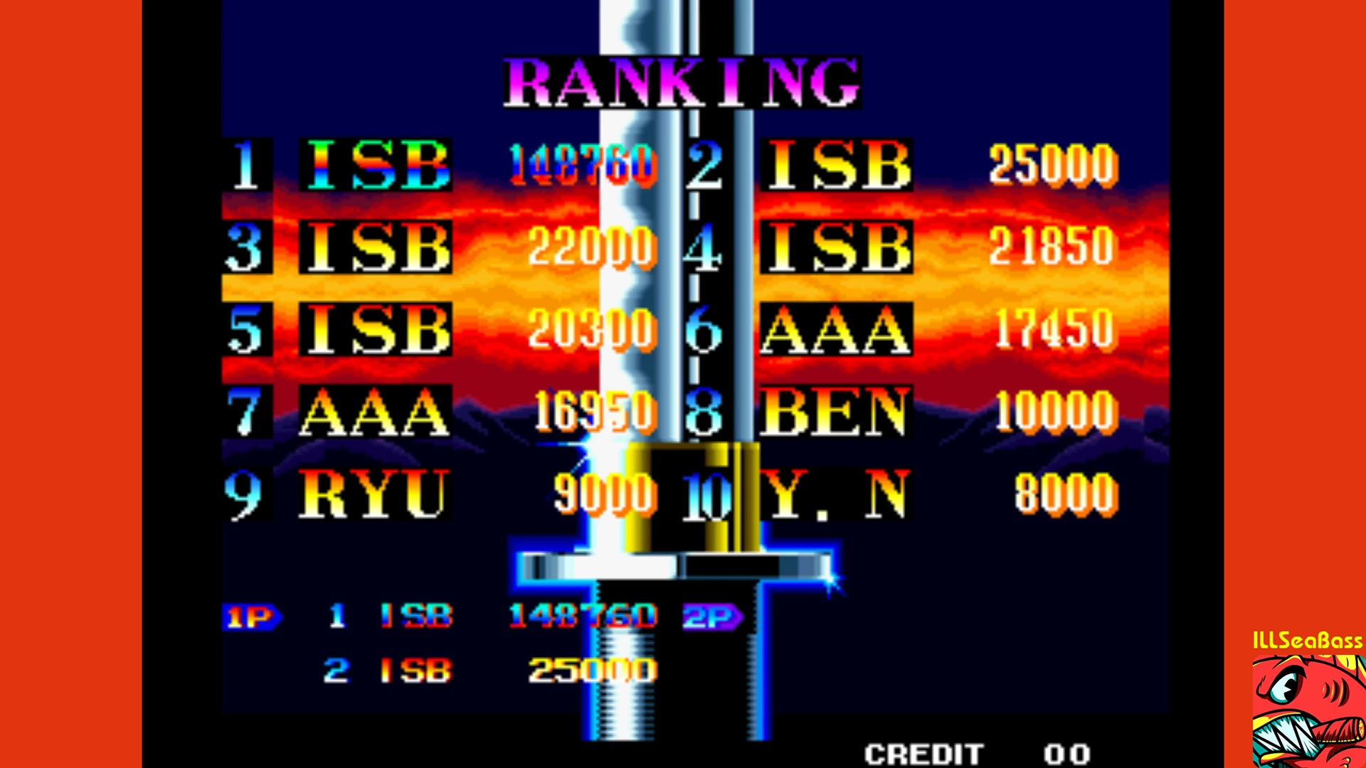 ILLSeaBass: Ninja Commando (Arcade Emulated / M.A.M.E.) 148,760 points on 2017-11-12 08:32:19