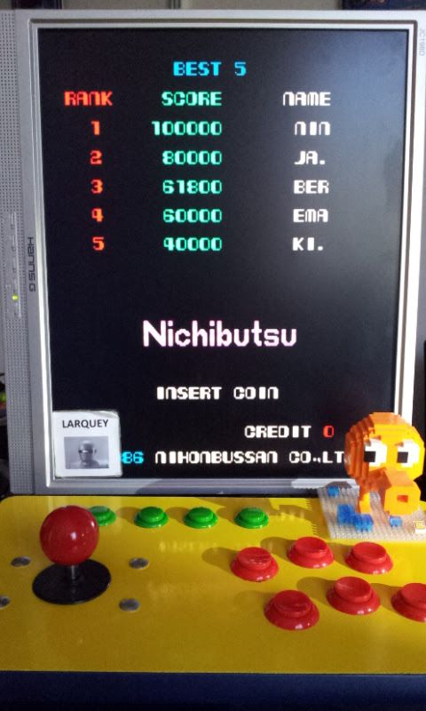 Larquey: Ninja Emaki [ninjemak] (Arcade Emulated / M.A.M.E.) 61,800 points on 2017-05-19 11:40:59