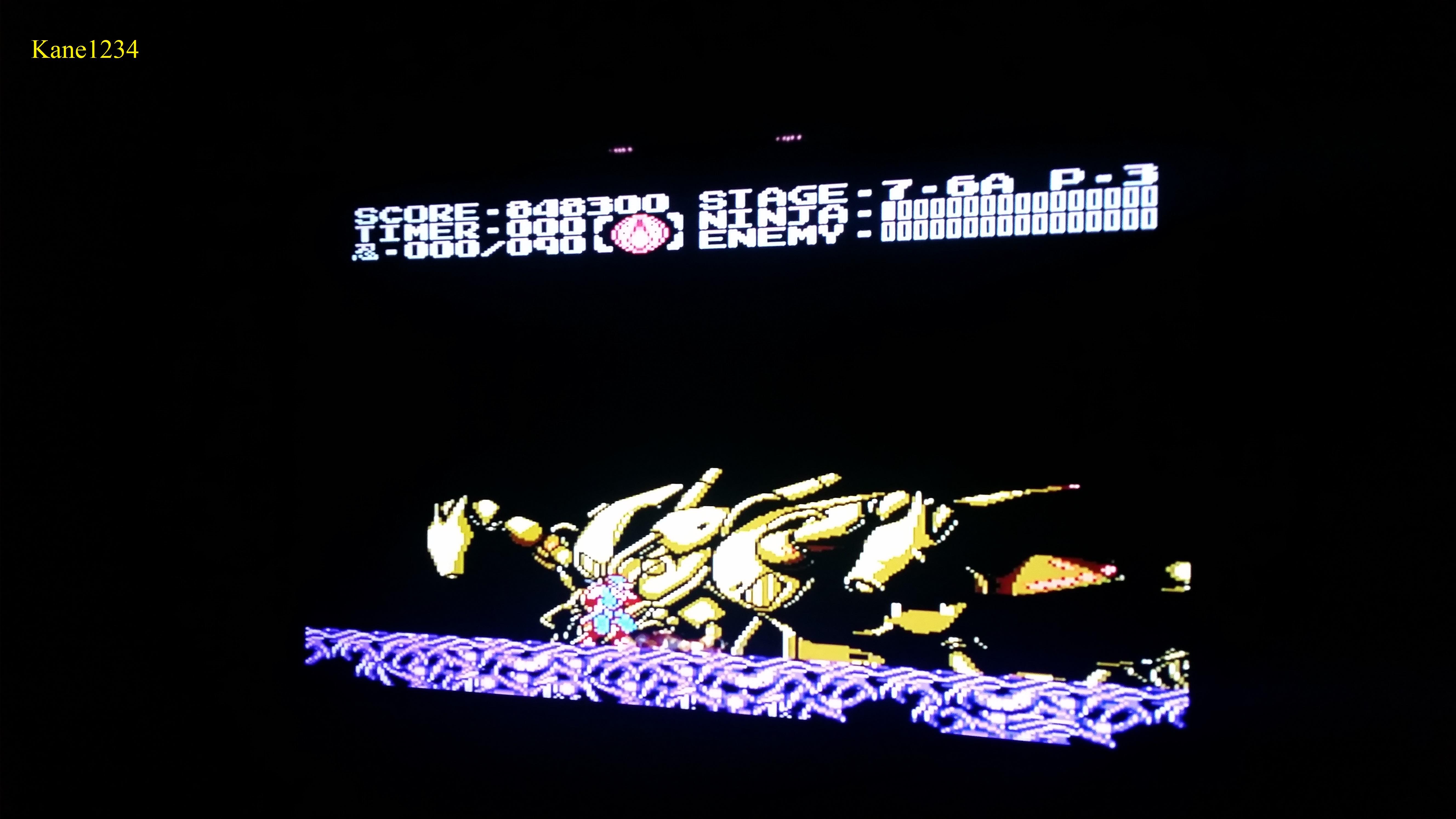 Ninja Gaiden III: The Ancient Ship of Doom 848,300 points