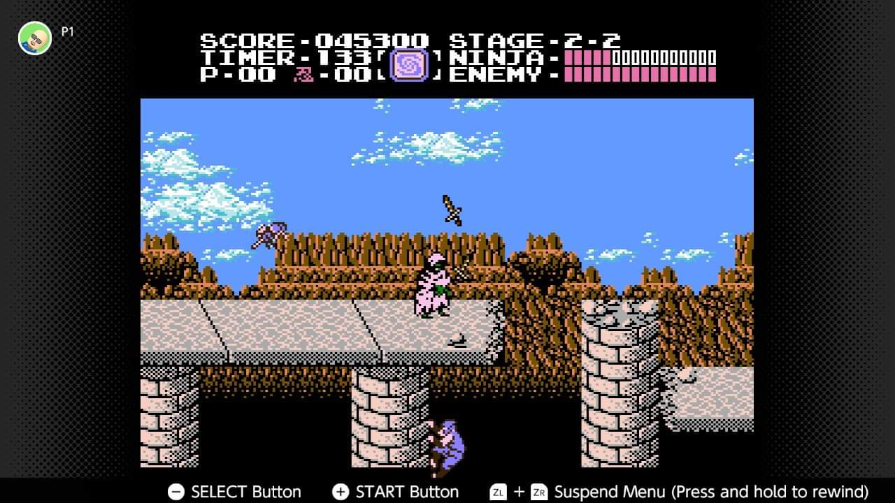 JML101582: Ninja Gaiden (NES/Famicom Emulated) 45,300 points on 2020-12-26 15:13:38
