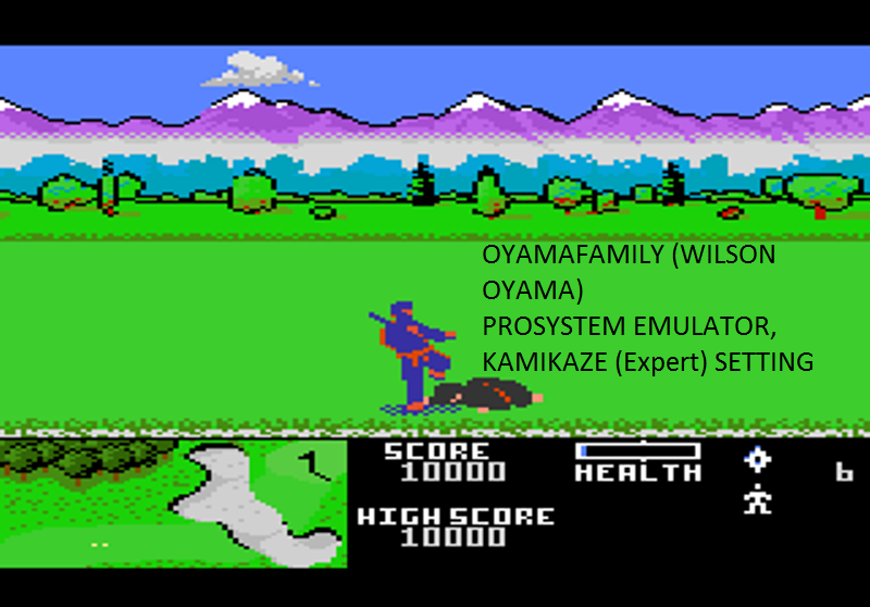 oyamafamily: Ninja Golf: Kamikaze (Atari 7800 Emulated) 10,000 points on 2016-11-14 08:46:36
