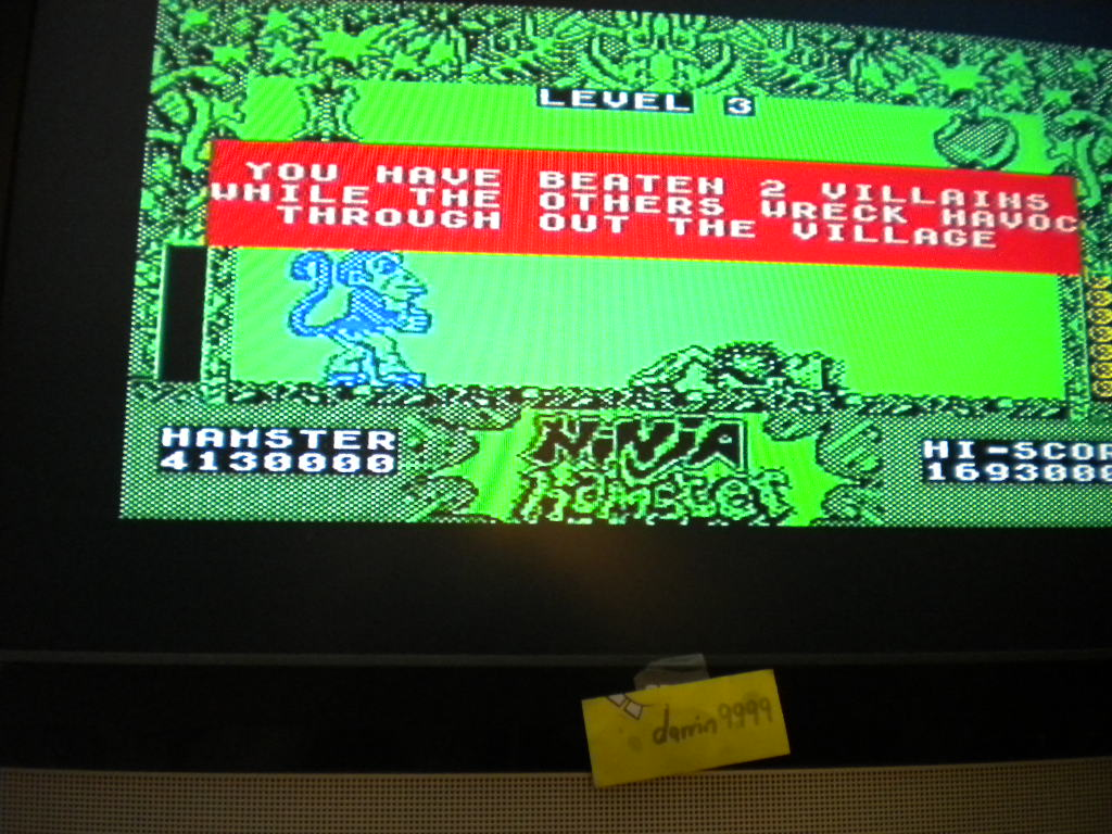 darrin9999: Ninja Hamster (ZX Spectrum Emulated) 4,130,000 points on 2016-07-21 16:22:56