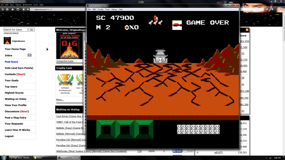 OriginalGamer: Ninja Kid (NES/Famicom Emulated) 47,900 points on 2016-07-15 15:52:50