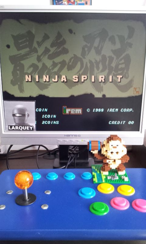 Larquey: Ninja Spirit (Arcade Emulated / M.A.M.E.) 88,400 points on 2017-07-03 10:03:14