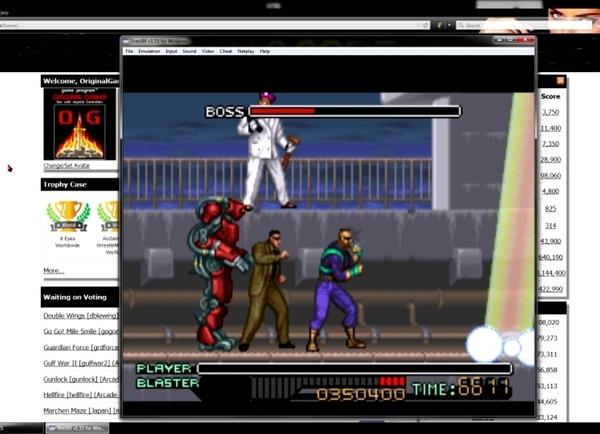 OriginalGamer: Ninja Warriors [Hard] (SNES/Super Famicom Emulated) 350,400 points on 2015-06-18 22:14:46