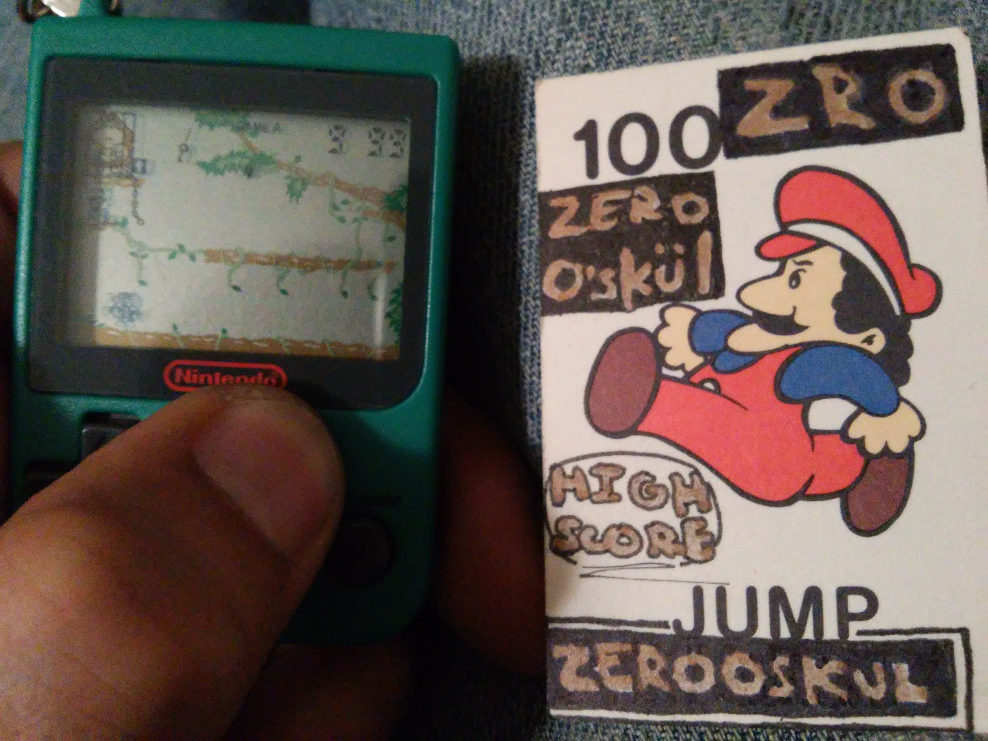 zerooskul: Nintendo Mini Classics: Donkey Kong Junior (Dedicated Handheld) 999 points on 2019-01-03 22:36:31