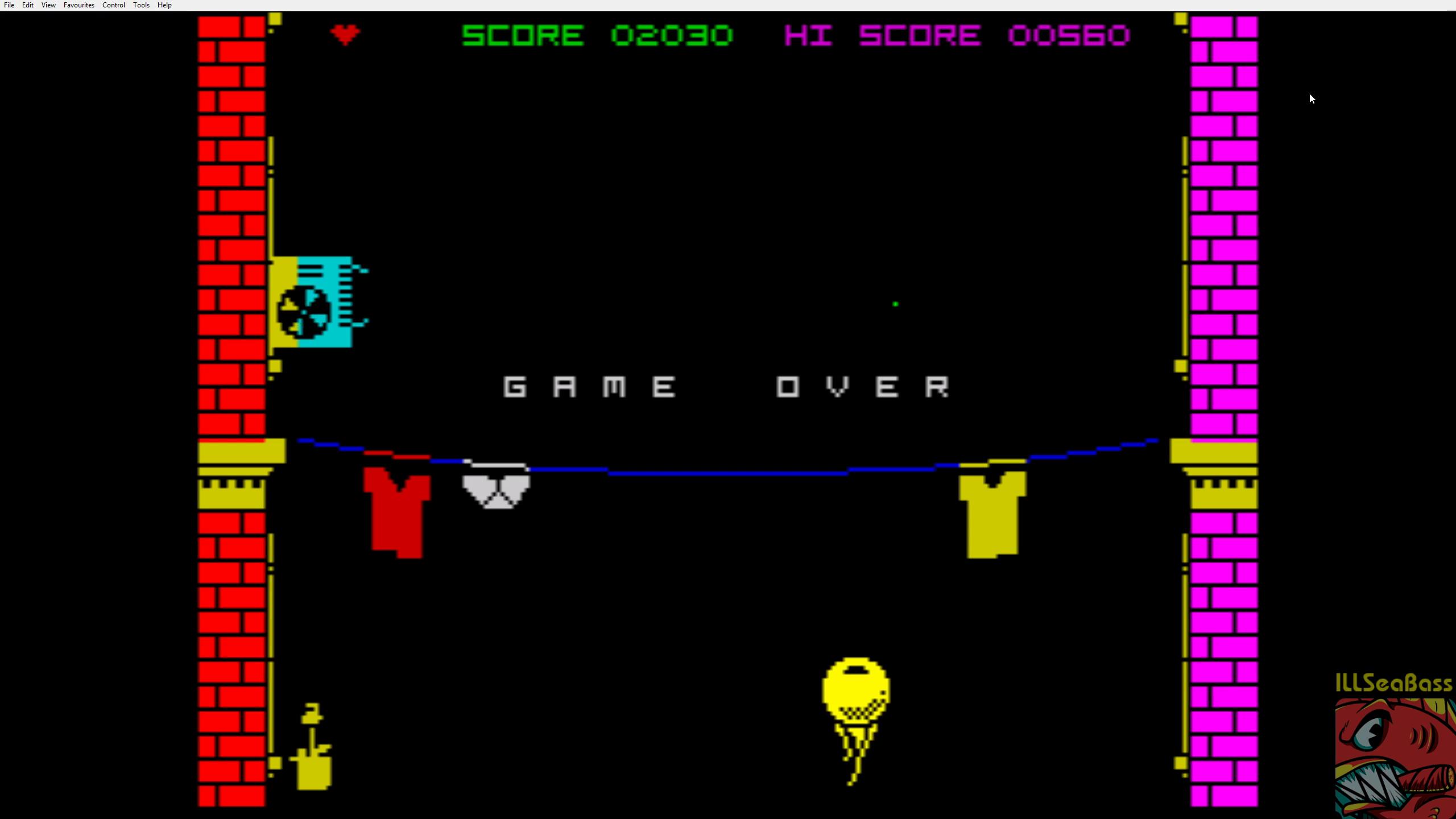 ILLSeaBass: Nohzdyve (ZX Spectrum Emulated) 2,030 points on 2019-01-10 08:59:17