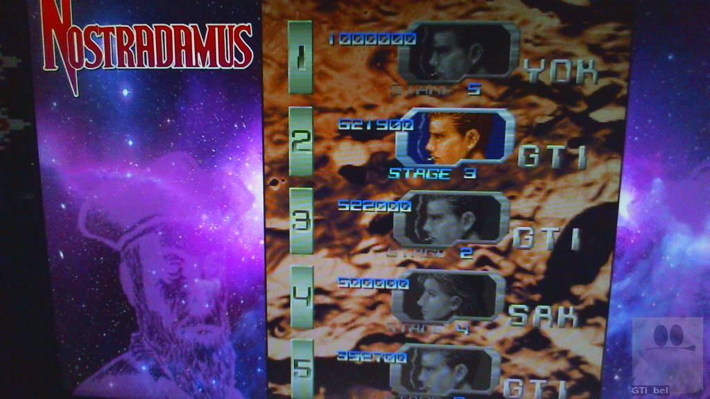 GTibel: Nostradamus [nost] (Arcade Emulated / M.A.M.E.) 621,900 points on 2018-10-31 11:15:57