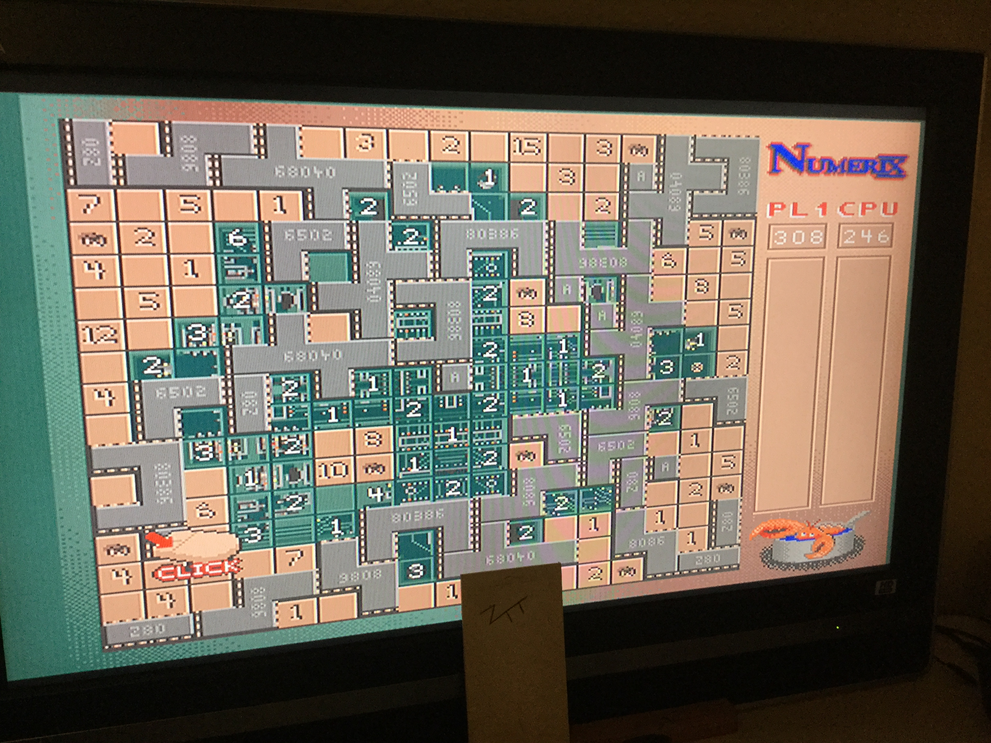 Frankie: Numerix [Board 4 / Timer: Off][Point Difference] (Amiga) 62 points on 2019-10-19 04:53:16