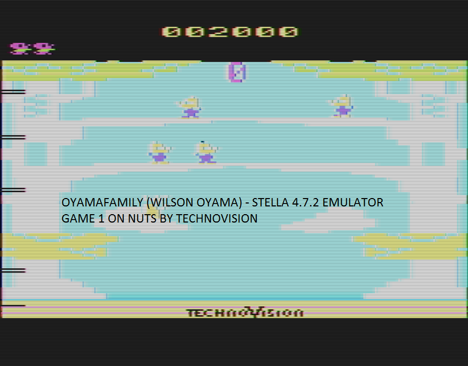 oyamafamily: Nuts (Atari 2600 Emulated) 2,000 points on 2016-08-14 19:41:34