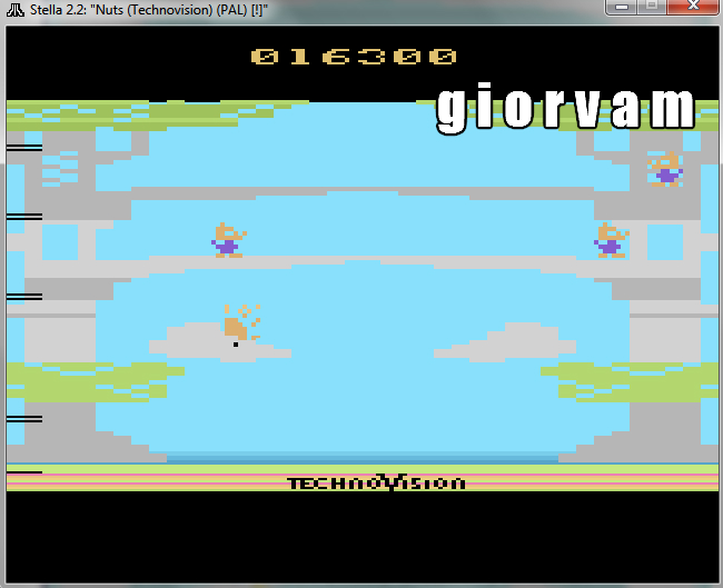 Giorvam: Nuts (Atari 2600 Emulated) 16,300 points on 2016-10-22 16:01:52
