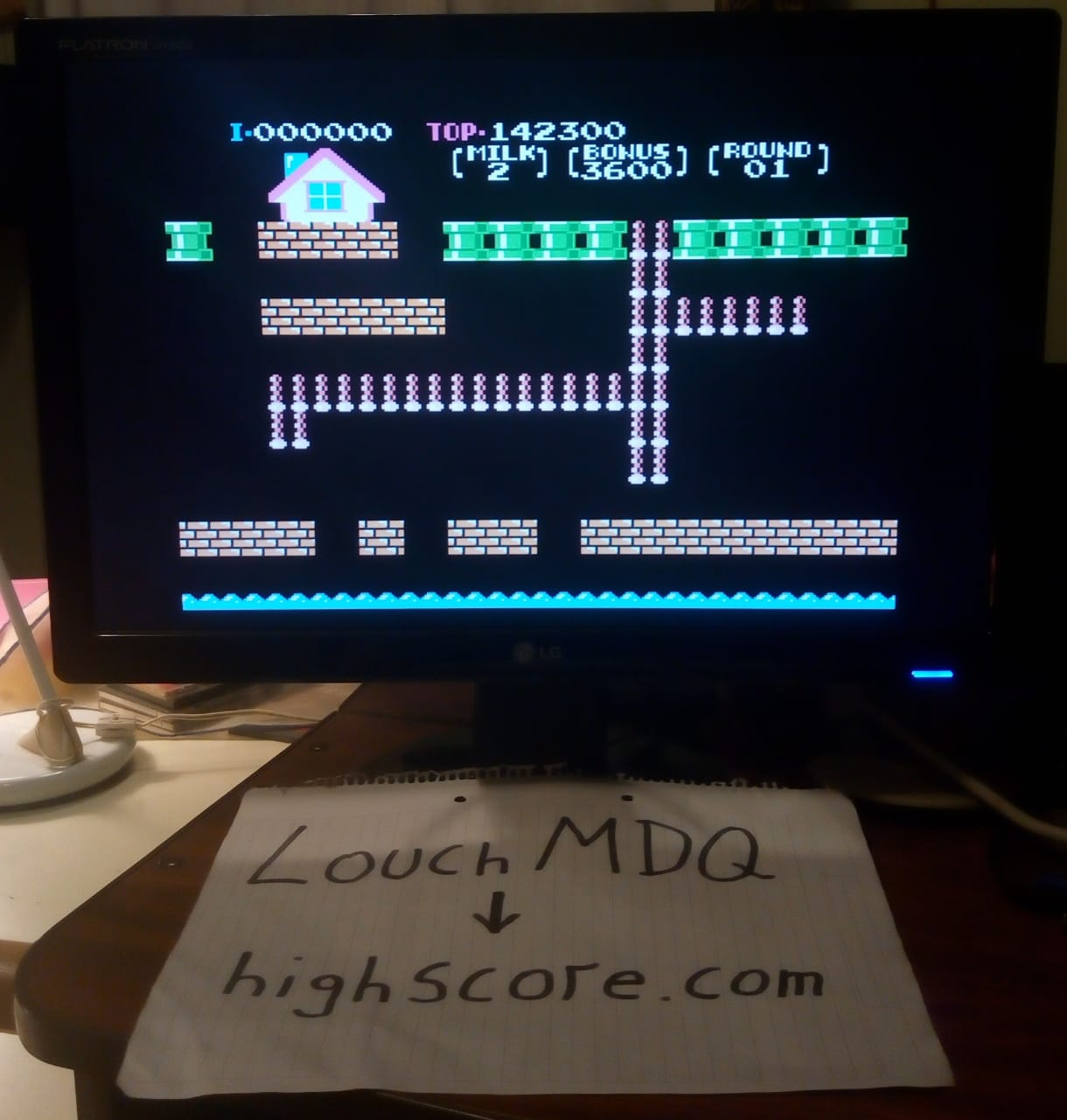 LouchMDQ: Nuts & Milk (NES/Famicom Emulated) 142,300 points on 2020-06-28 04:16:10