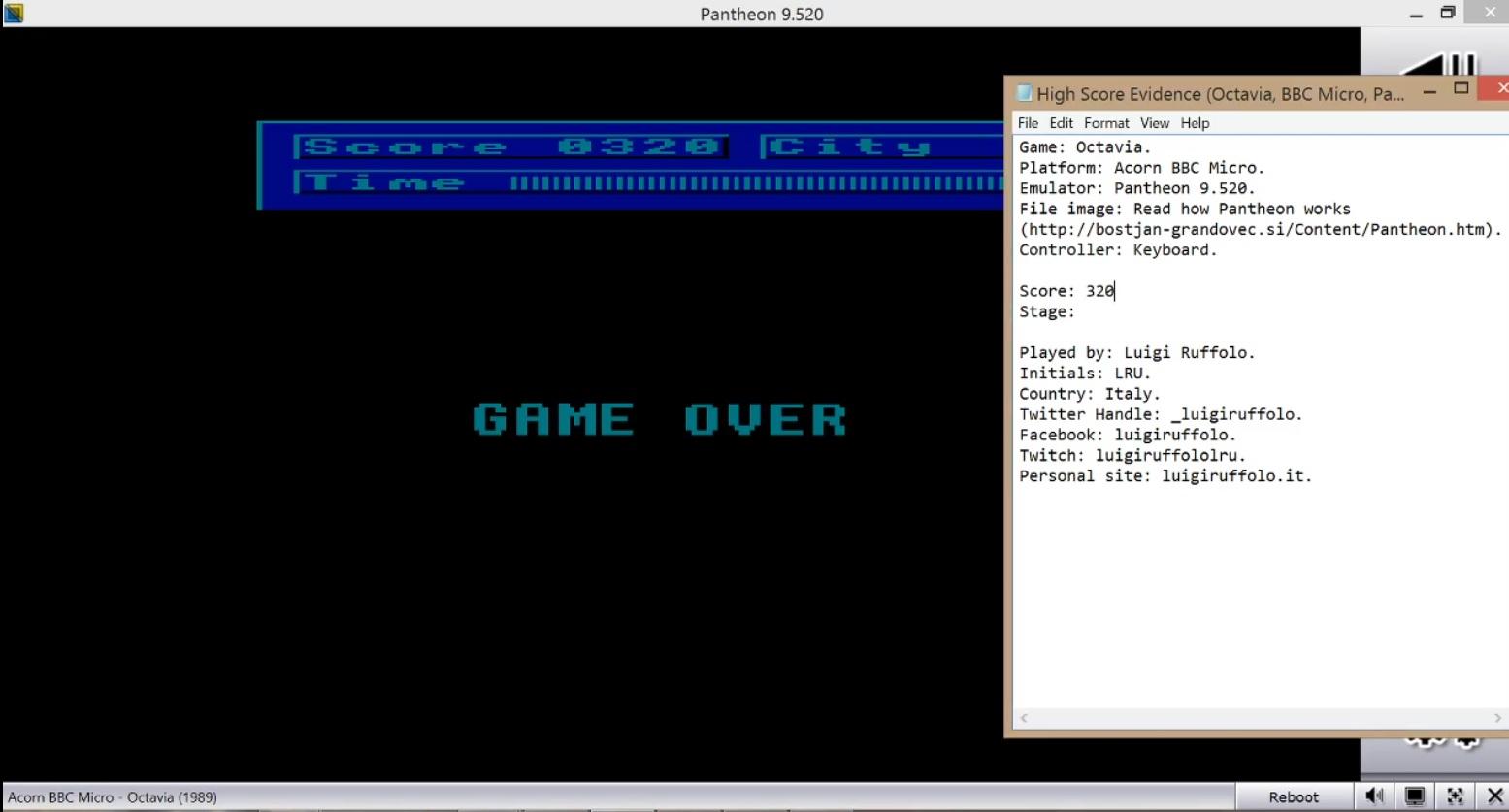 LuigiRuffolo: Octavia (BBC Micro Emulated) 320 points on 2020-08-14 02:41:25