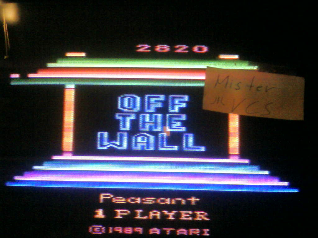 Off the Wall 2,820 points