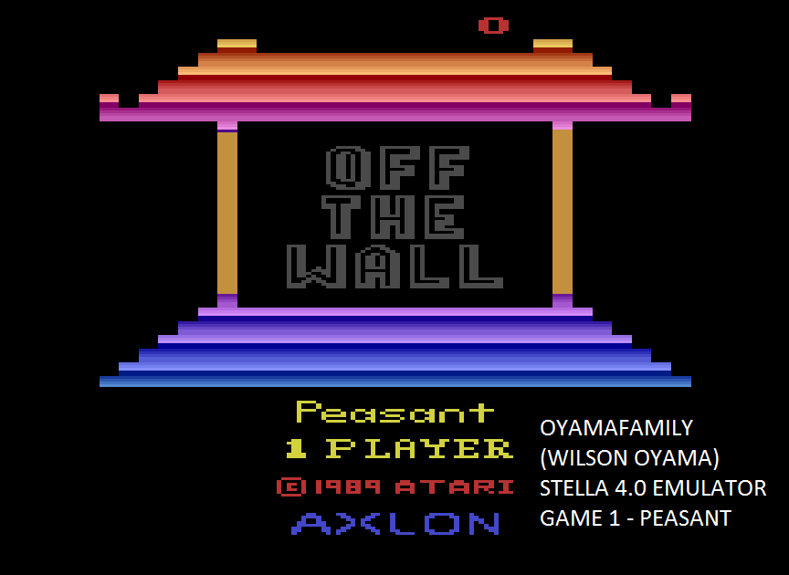 oyamafamily: Off the Wall (Atari 2600 Emulated Novice/B Mode) 11,069 points on 2015-08-22 20:26:33