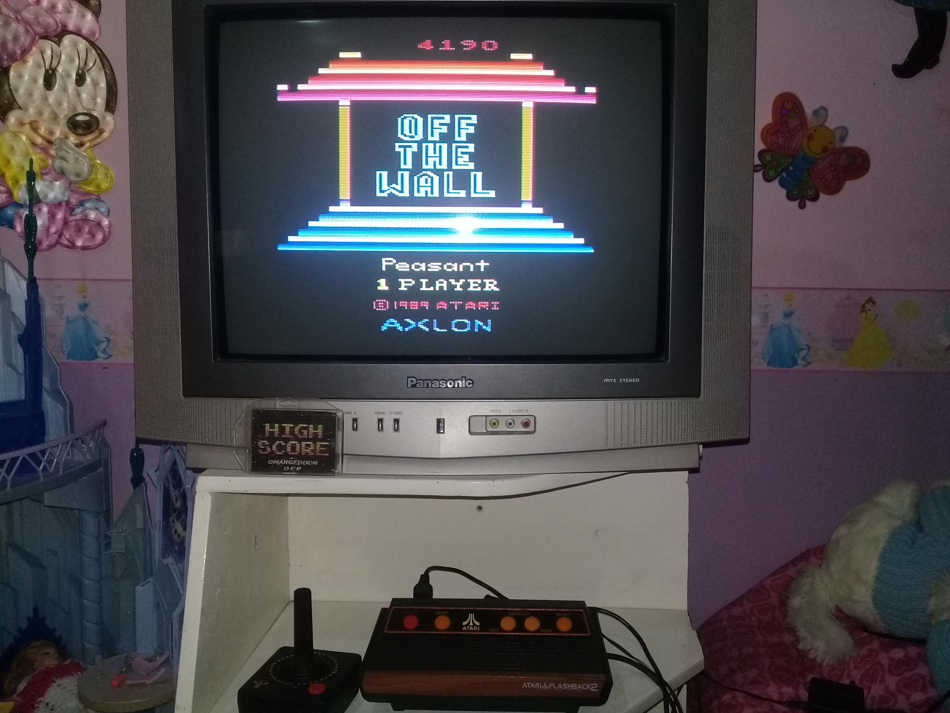 omargeddon: Off the Wall (Atari 2600 Emulated Novice/B Mode) 4,190 points on 2019-05-06 18:05:30