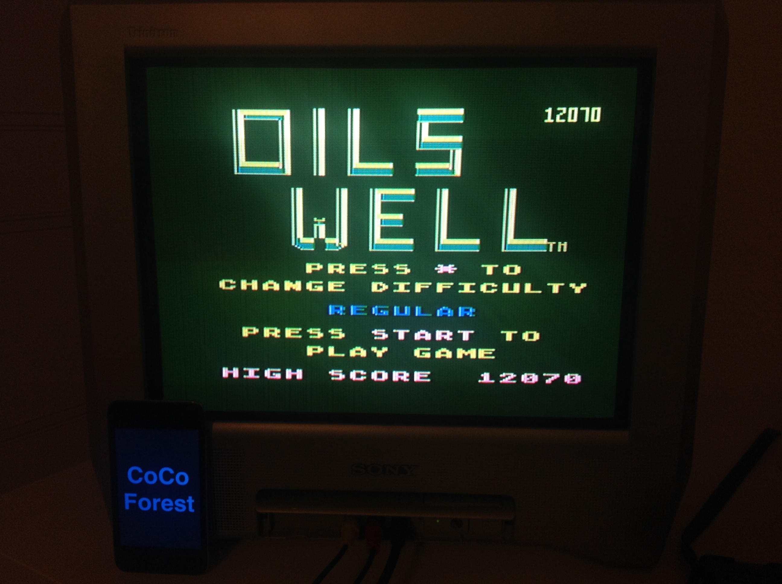 CoCoForest: Oils Well (Atari 5200) 12,070 points on 2015-11-09 11:15:09