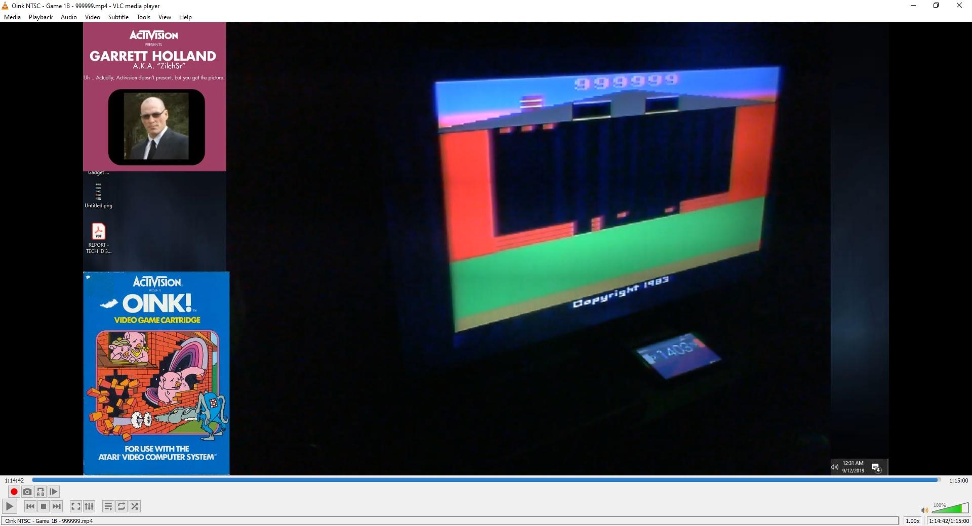 ZilchSr: Oink! (Atari 2600 Novice/B) 999,999 points on 2019-09-29 16:54:17