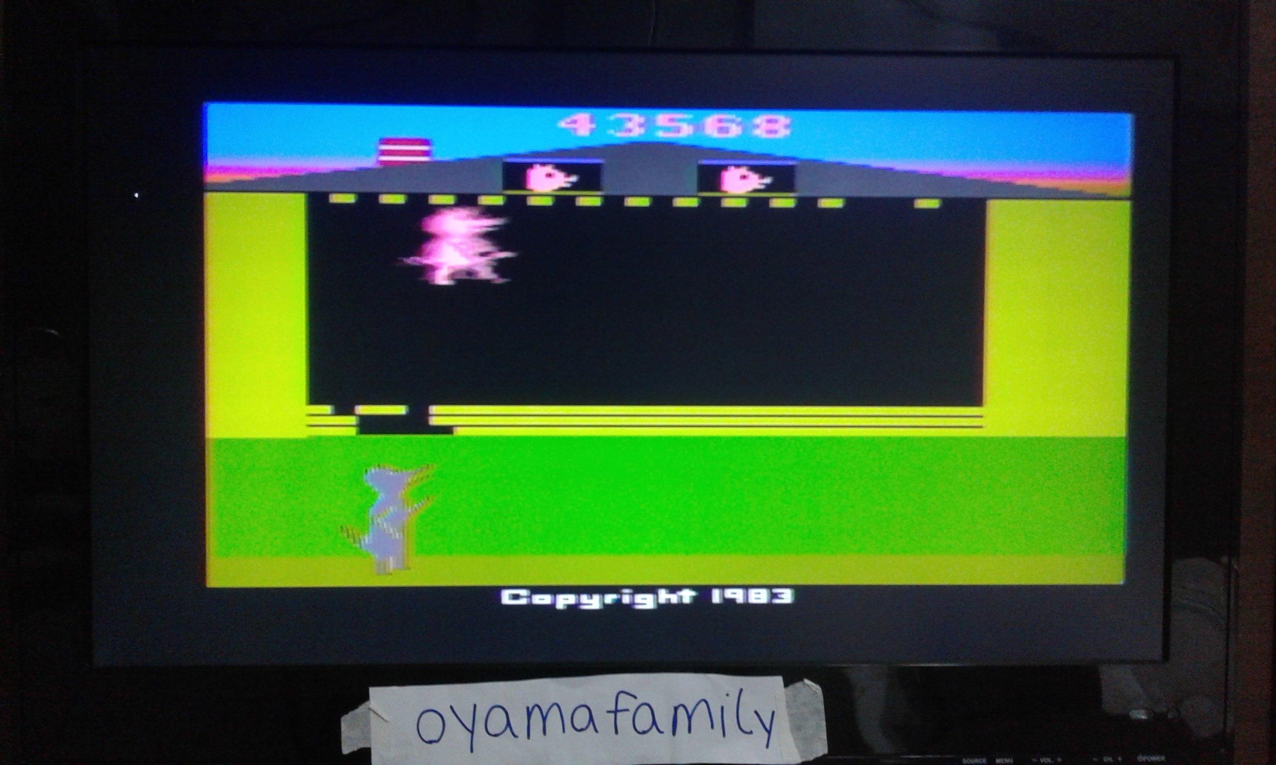 oyamafamily: Oink! (Atari 2600 Novice/B) 43,568 points on 2020-01-24 12:47:44