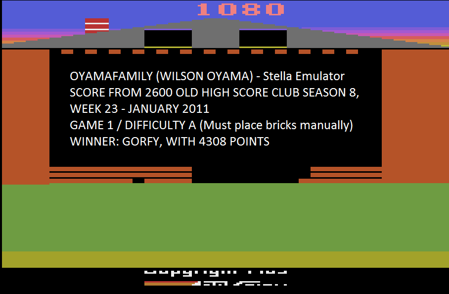oyamafamily: Oink! (Atari 2600 Emulated Expert/A Mode) 1,080 points on 2015-07-26 12:44:11