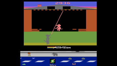 S.BAZ: Oink! (Atari 2600 Emulated Expert/A Mode) 2,936 points on 2018-03-09 14:52:29