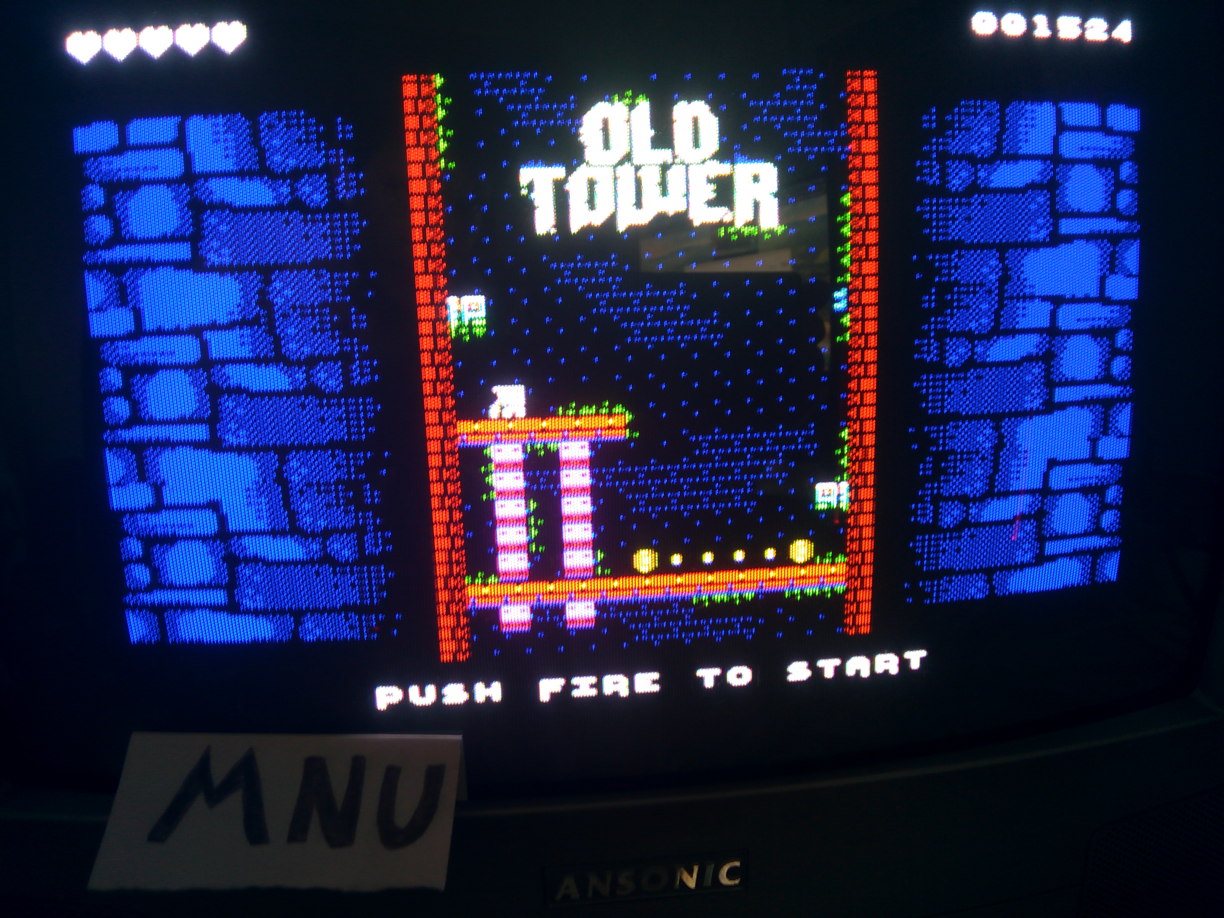 hughes10: Old Tower (ZX Spectrum) 1,524 points on 2020-07-24 13:25:11