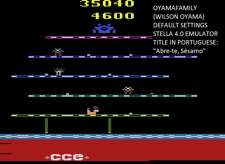 oyamafamily: Open Sesame (Atari 2600 Emulated) 35,040 points on 2015-08-12 18:09:03