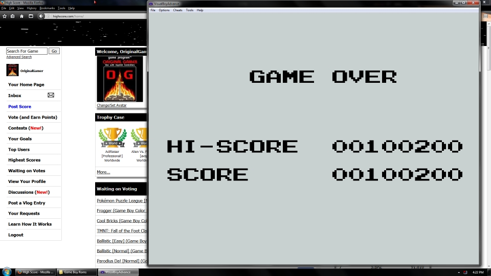OriginalGamer: Operation C (Game Boy Emulated) 100,200 points on 2016-07-15 15:40:47
