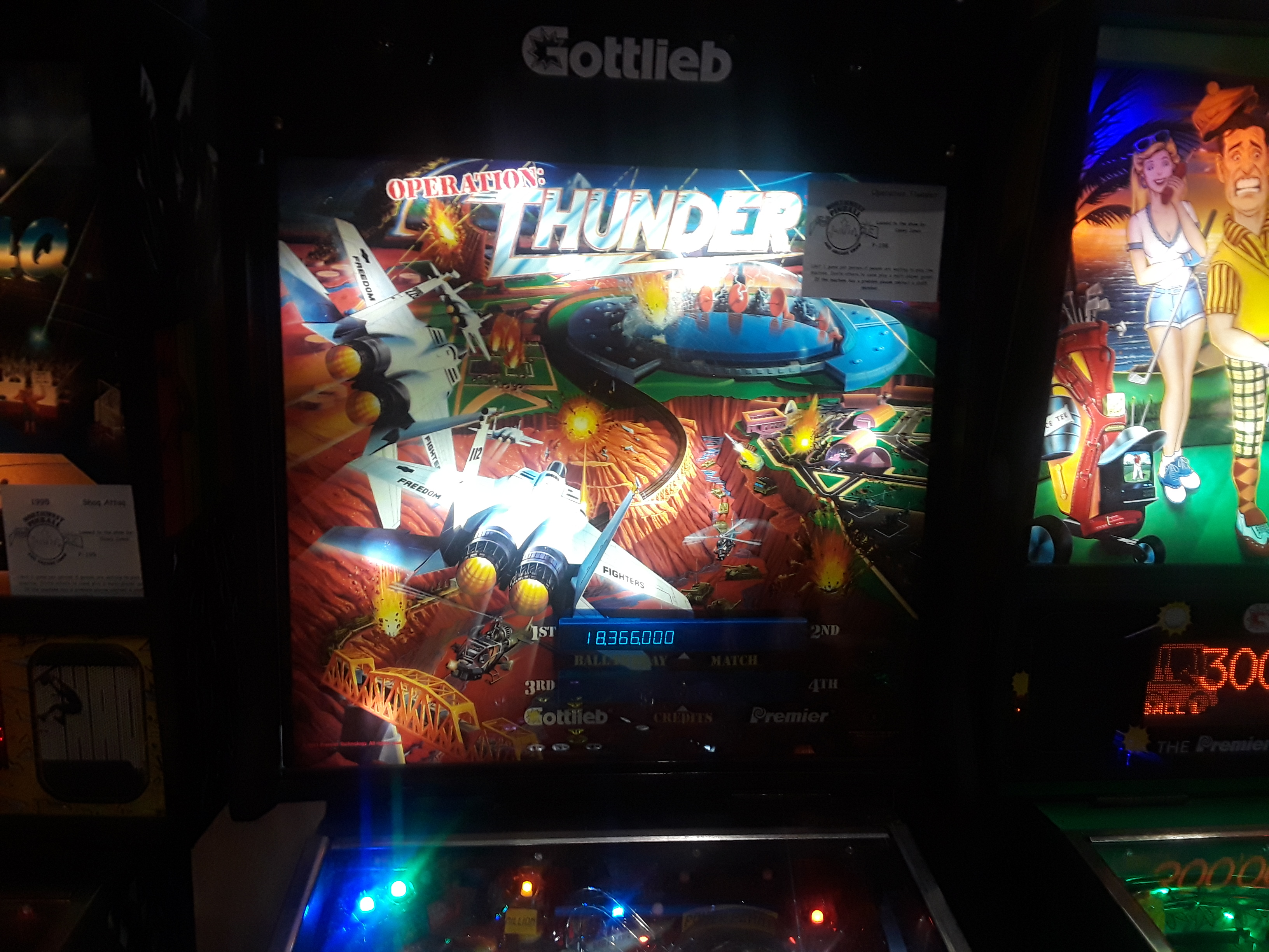 JML101582: Operation Thunder (Pinball: 3 Balls) 18,366,000 points on 2019-06-01 14:01:27