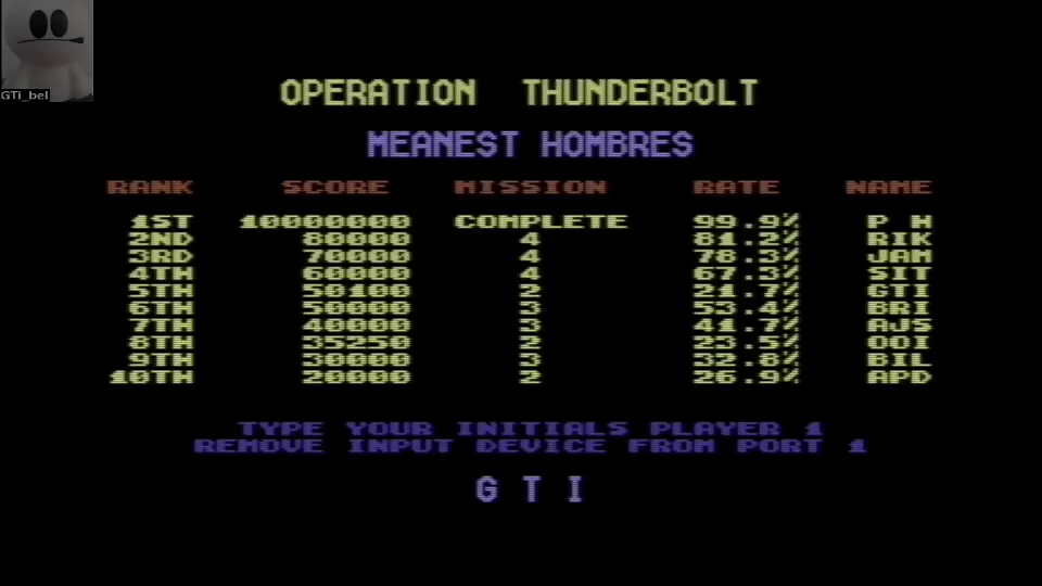 GTibel: Operation Thunderbolt (Commodore 64 Emulated) 50,100 points on 2016-06-20 13:46:46