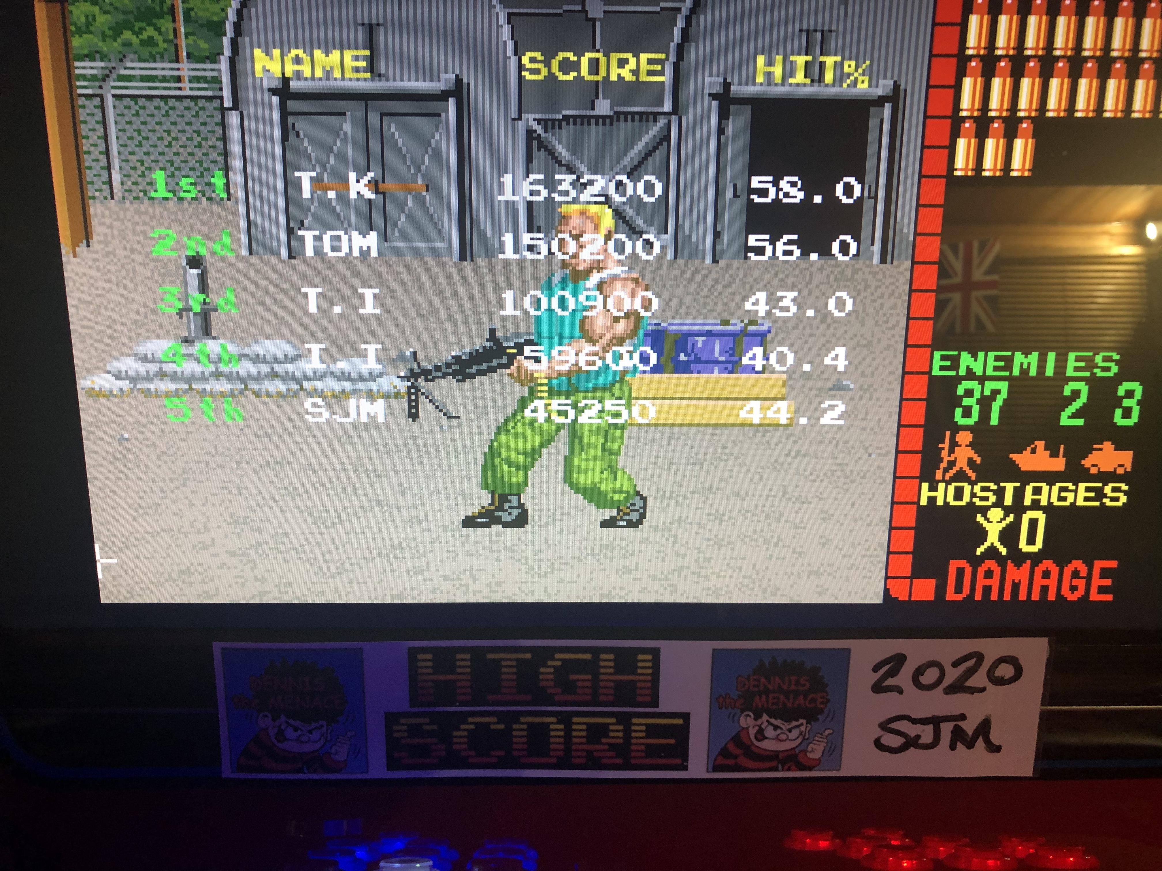 DtM2000: Operation Wolf (Arcade Emulated / M.A.M.E.) 45,250 points on 2020-11-26 16:12:06